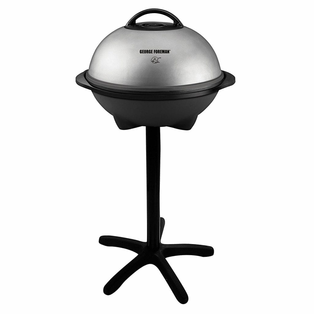 George-Foreman 15-Serving-Indoor/Outdoor Electric-Grin, Silver, GGRSOB