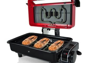 NutriChef-Electric Grill-Roaster Indoor & Outdoor Grilling-Barbecue for Fish-Steak Meat-Skewer & Seafoods.