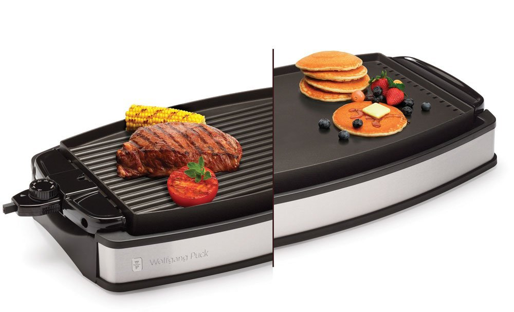 Wolfgang-Puck Electric-Reversible Grill & Griddle