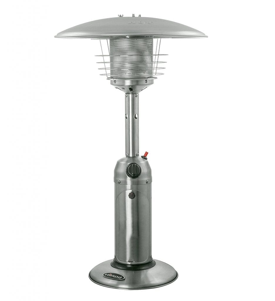 AZ Patio Heater HLDS032-B Portable Tables Tops Stainless Steels Patio Heaters