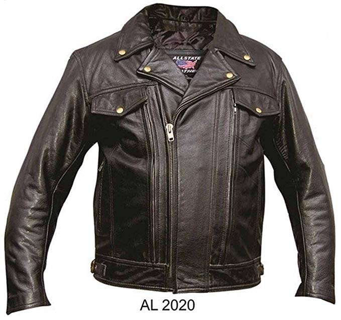 Allstate Leather Men's Black Top Grain Buffalo Leather