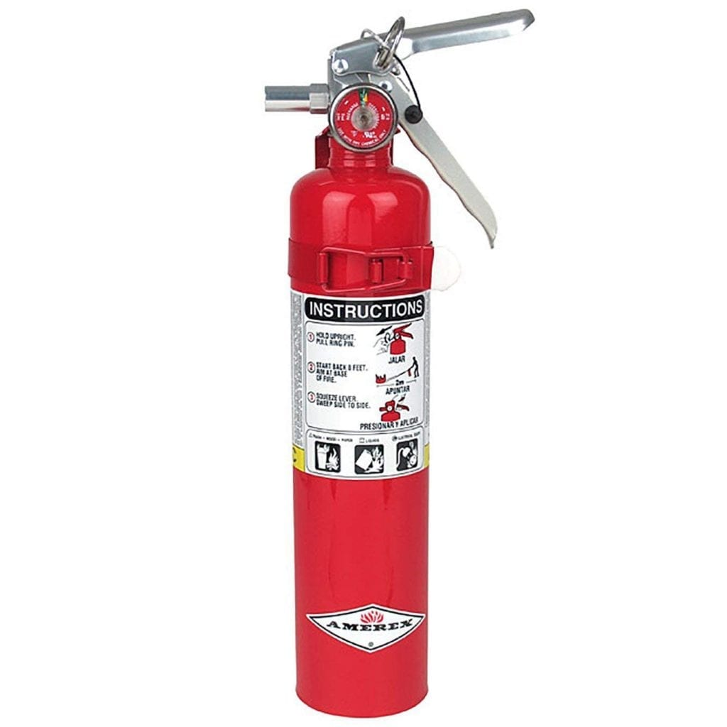 Amerex B417, Class ABC Fires 2.5 LB Dry Chemical Fire Extinguishers