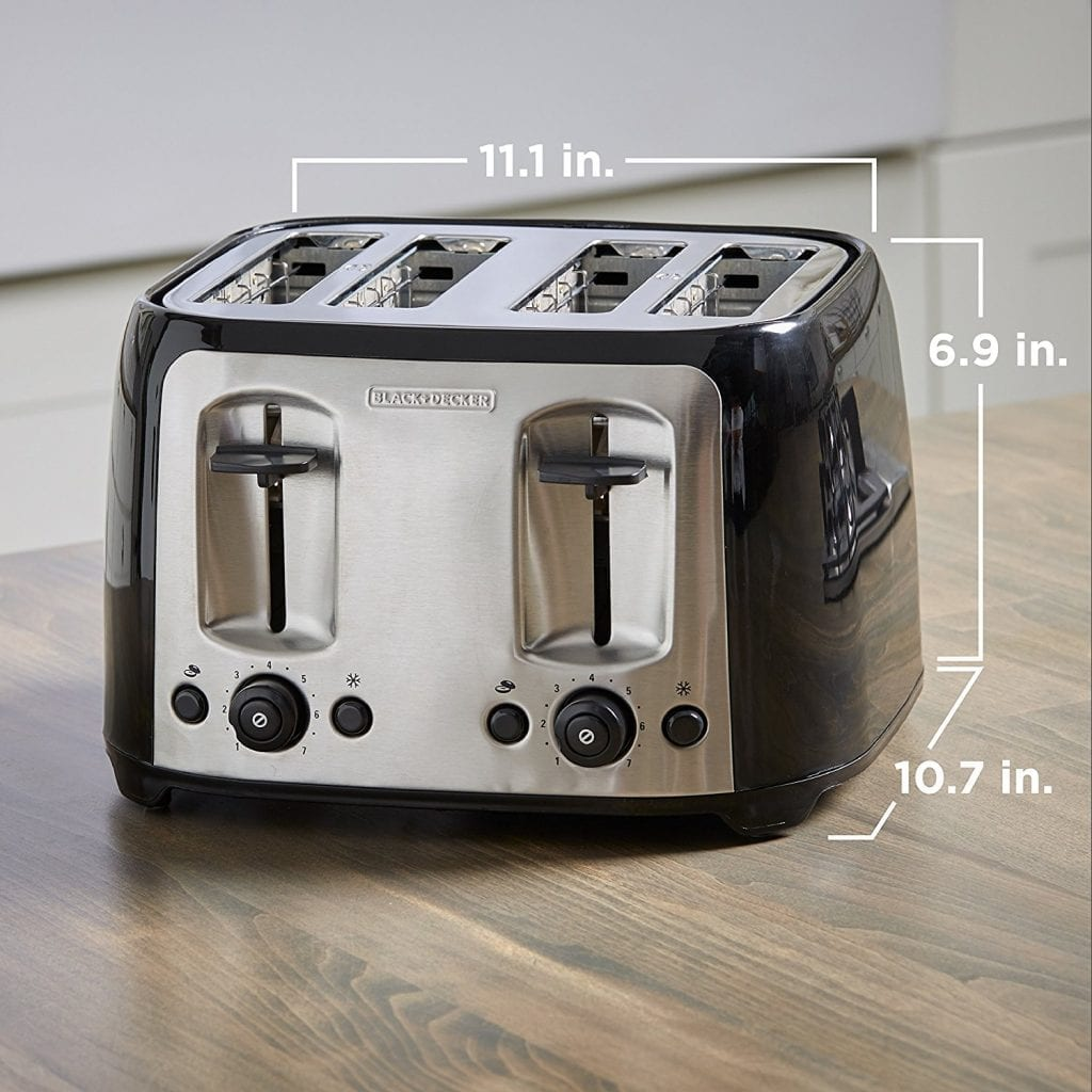 BLACK+DECKER 4-Slice Toaster: