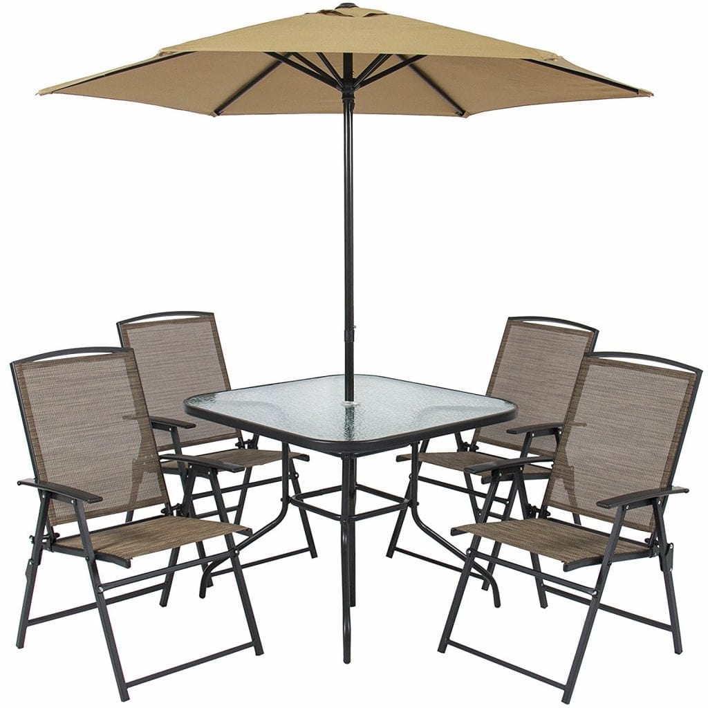 Best Choice Products Patio Dining Set 6pc Outdoor Folding,