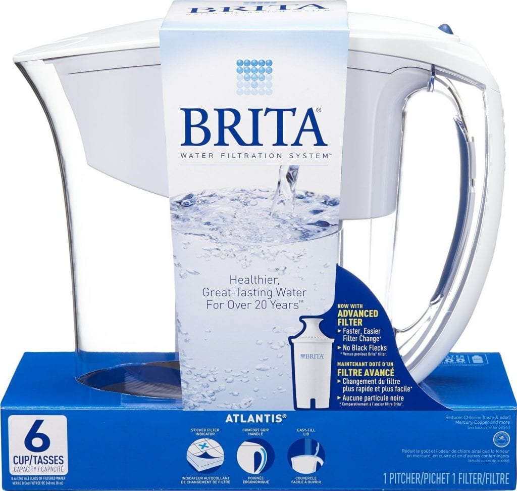 Brita Atlantis Blue Water Filter Pitcher