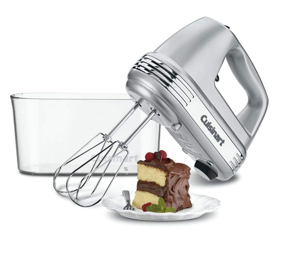 Cuisinart HM-90BCS 9-Speed Power Advantage Handheld Mixer With Brushed Chrome, Storage Case