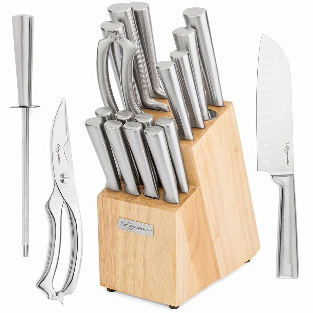 Culinary Obsession 17-Piece Kitchen Knife Set