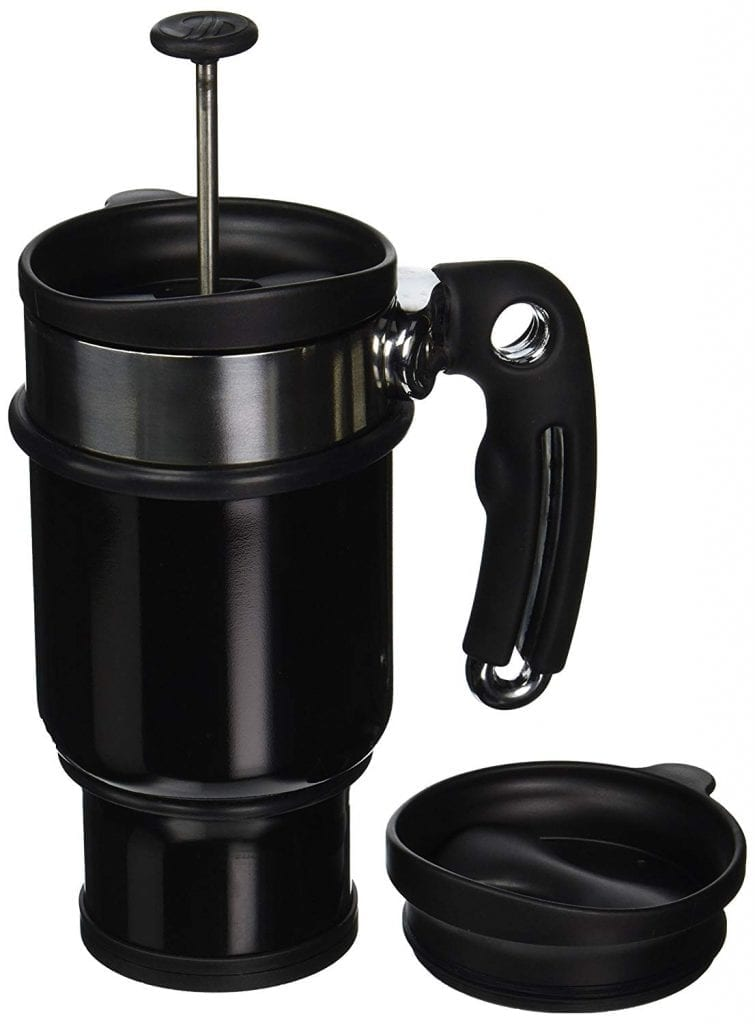 Double-Shot French Press-14 oz. Travel Mug, Black From Planetary Design