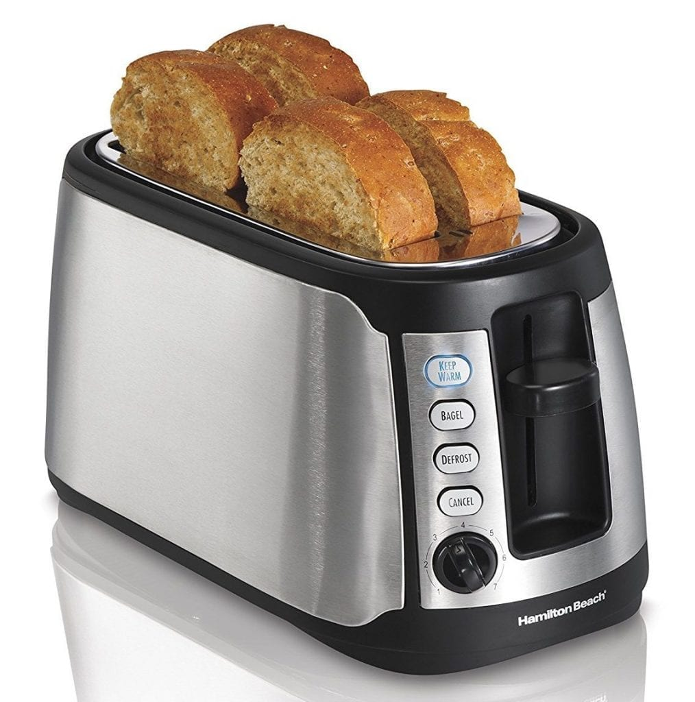 Hamilton Beach 4-Slice Long Slot Keep Warm Toaster: