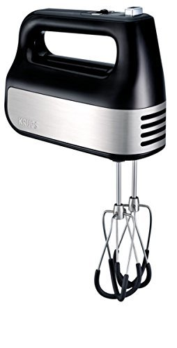 KRUPS GN4928 10 Speed Quiet Hand Mixer with Count Down Timer, and Turbo-Boost Accessories, Black