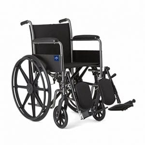 Medline Comfort Driven Chair with Elevating Leg Rests and Full-length Arms