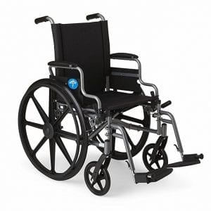 Medline Wheelchair with Swing-Away Leg Rest and Flip-Back Arms