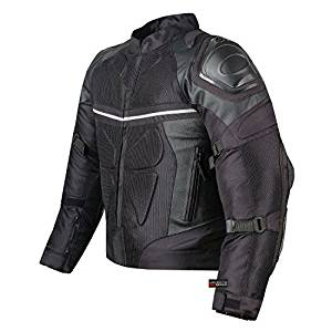 Mesh and Pro Leather Motorcycle Waterproof Jacket
