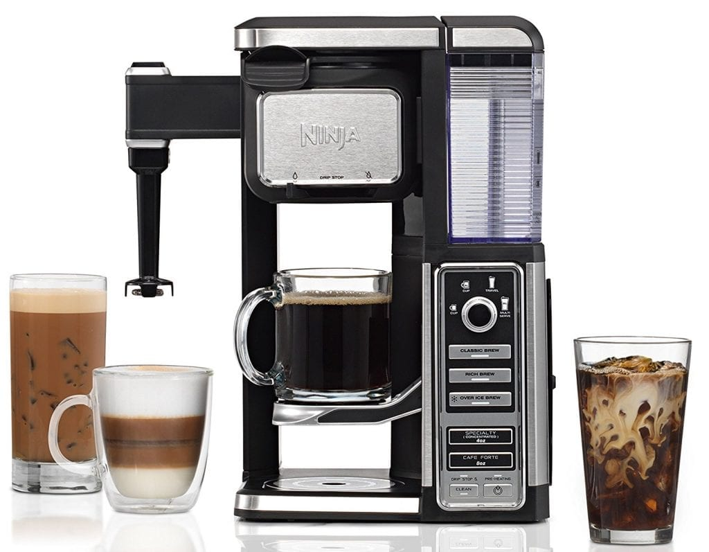 Coffee Bar Single-Serve (CF112) System with Inbuilt Frother from Ninja
