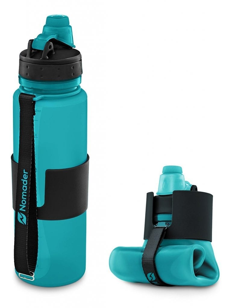 Nomader Collapsible 22 oz Water Bottle – Leak-Proof Twist Cap