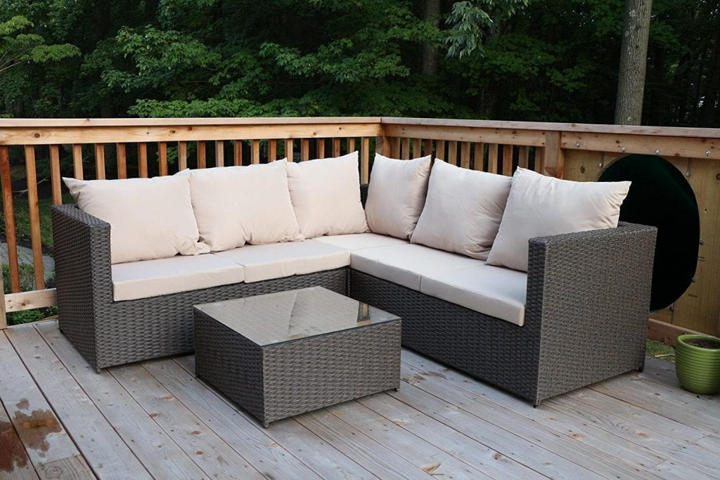 Oliver Smith - Large 4 Pc Outdoor Patio Furniture Modern