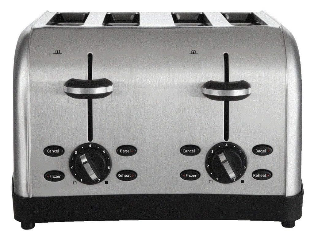Oster 4-Slice Toaster, Brushed Metal