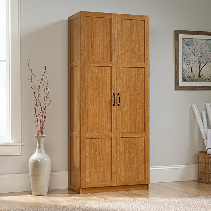 Sauder Highland Oak Finish Storage Cabinet