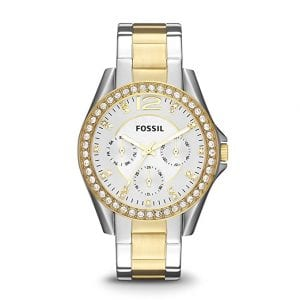 Stainless Steel Women Fossil Watches Riley