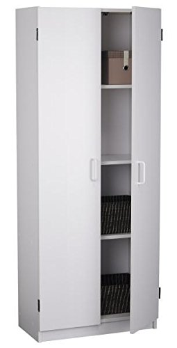 Flynn Storage Cabinet(Wooden), White from SystemBuild