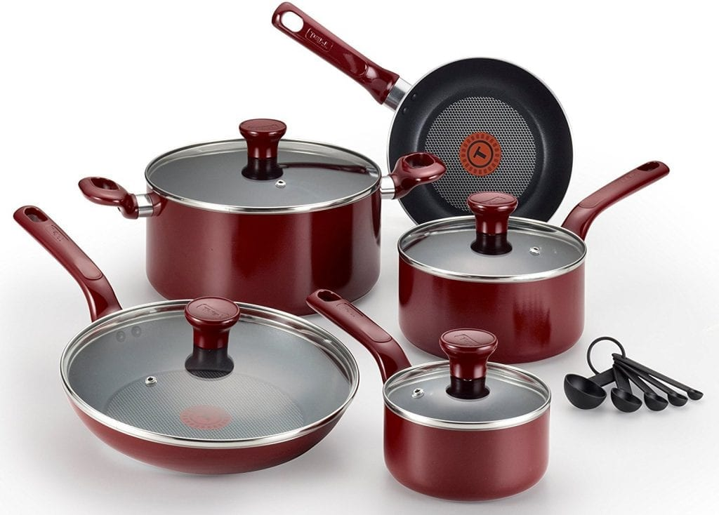 T-fal C514SE 14 piece Red Cookware