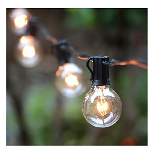 The G40 Globe 25ft String Lights with Crystal Clear Bulbs,