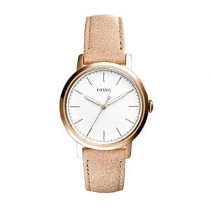 Three-Hand Neely Leather Women Fossil Watch
