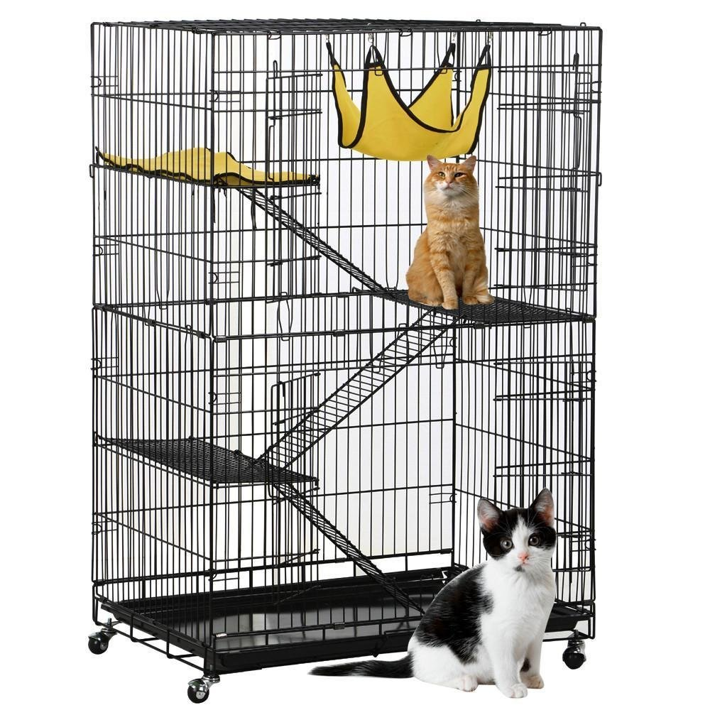 Topeakmart 4-Tier Foldable Cat