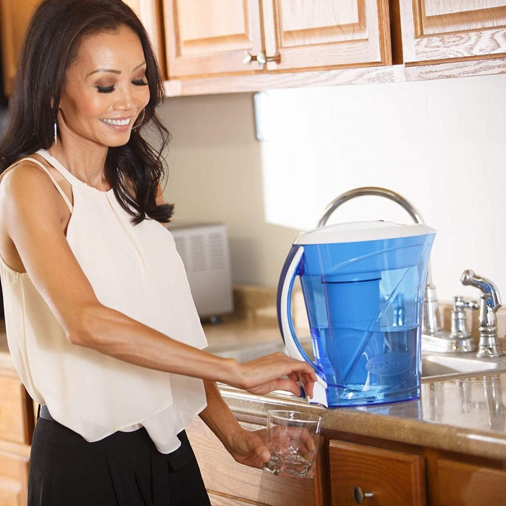 ZeroWater 10 Cup Pitcher with Free Water Quality Meter BPA-Free