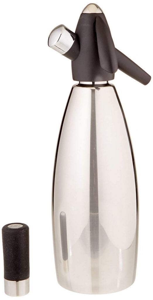 iSi Stainless Steel 1 Quart Soda Siphon Bottle, Silver
