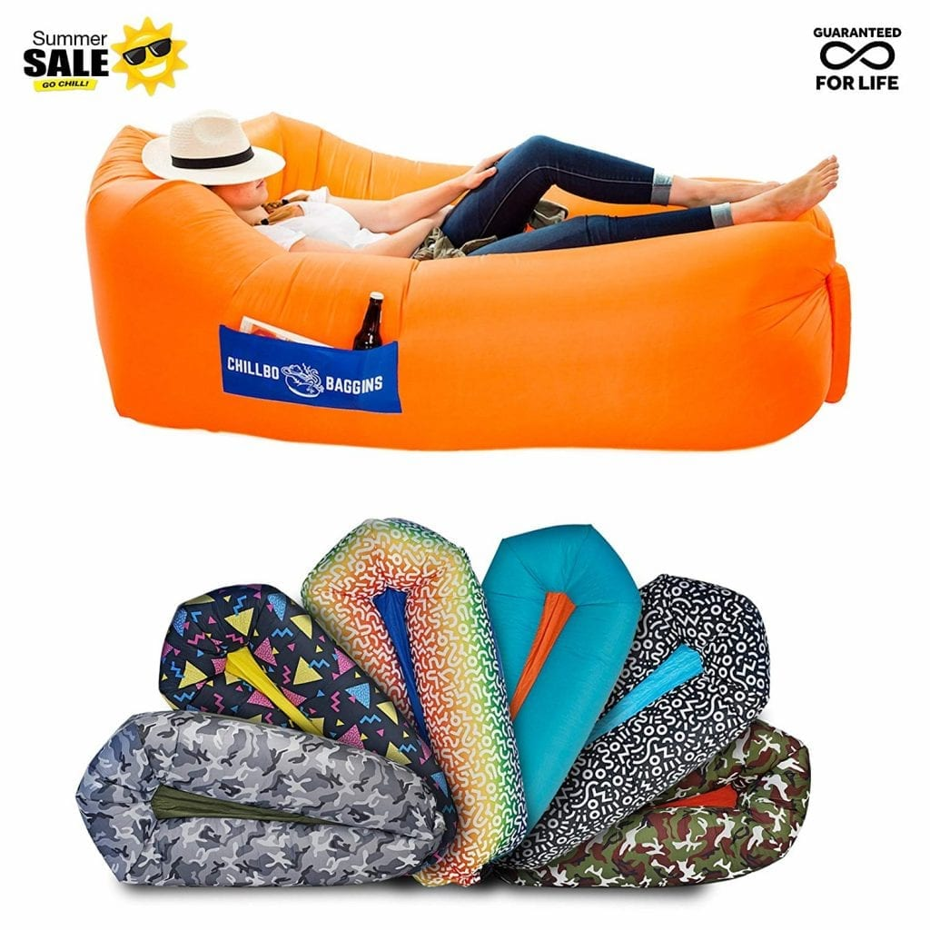 Baggins 2.0 Inflatable air Lounger from Chillbo