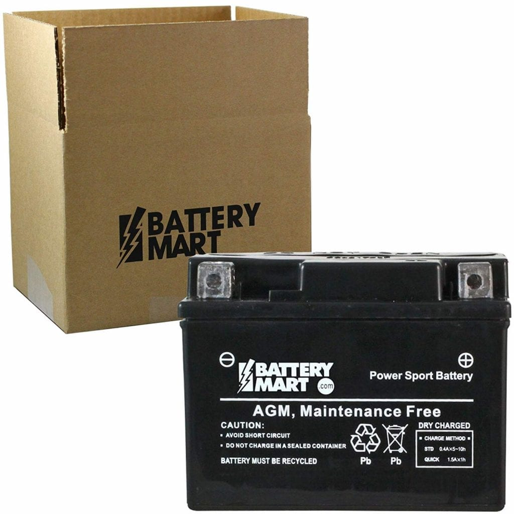 Battery Mart Replacement YTX4L-BS