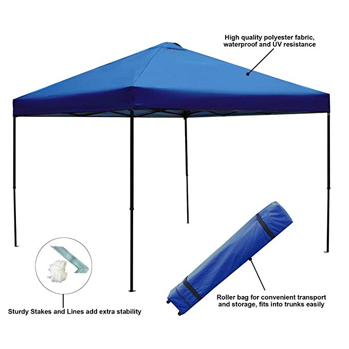 Blissun 10 x 10 Ft Outdoor Portable Instant Canopy Tent