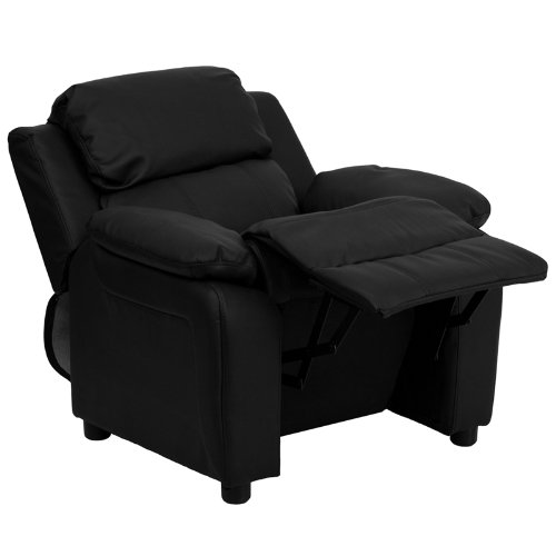 Contemporary Deluxe Padded Kids Recliner Chair From Flash Furniture