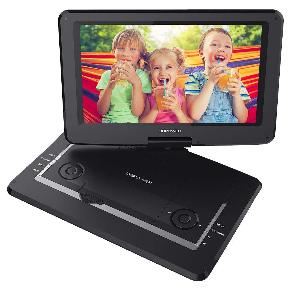 DBPOWER Portable DVD Player, 14-Inch, (Black)