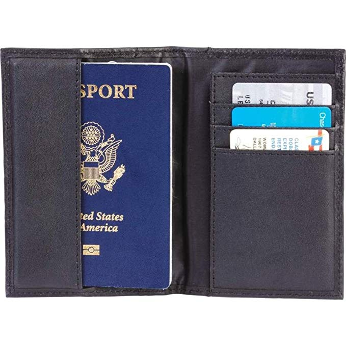 Embassy Black Leather Passport Cover
