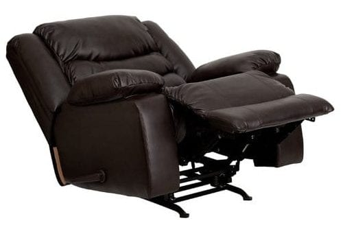 Flash Furniture Plush Brown Leather Lever Rocker Recliner Chair