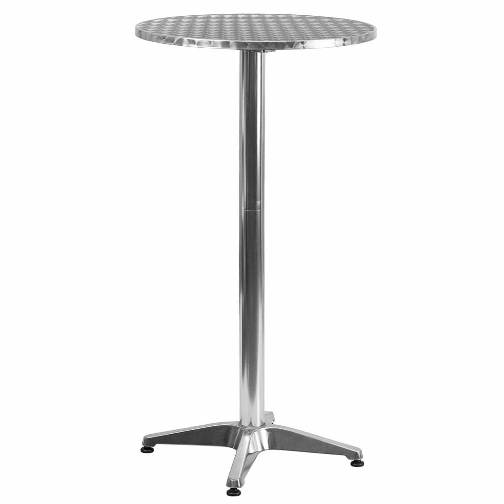 Flash furniture 23.25 '' round aluminum indoor-outdoor foldable bar table height