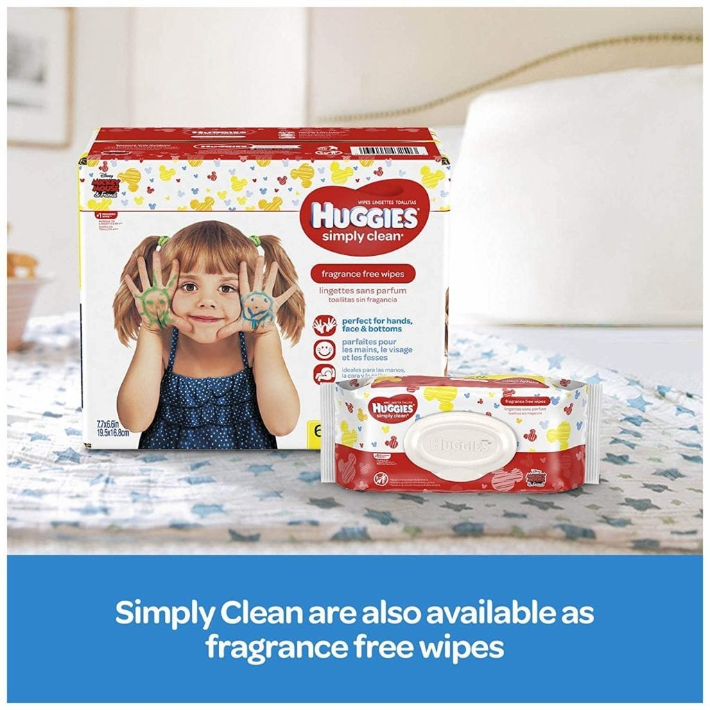 HUGGIES Simply Soft Pack, Clean Fresh Scented, 648 Count Baby Wipes