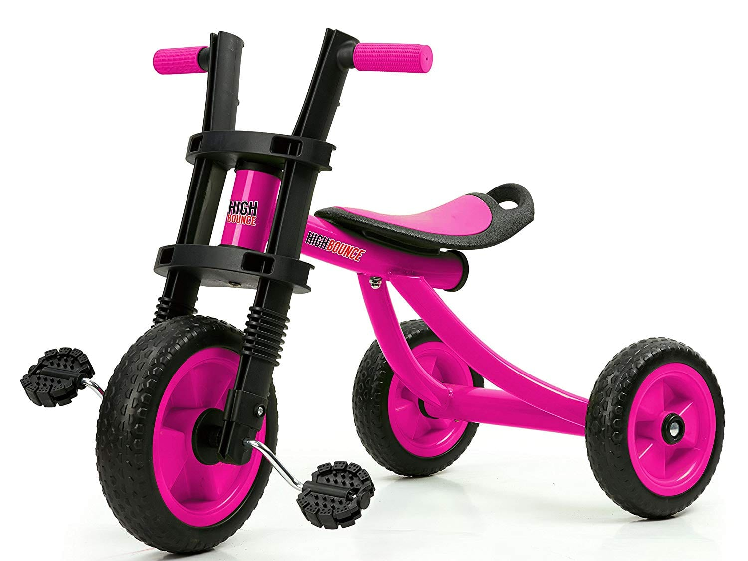 High bounce extra tall tricycle