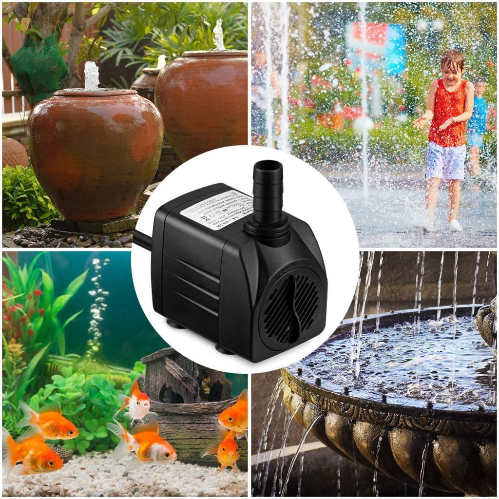 Homasy Ultra Quiet Fountain Water Pump