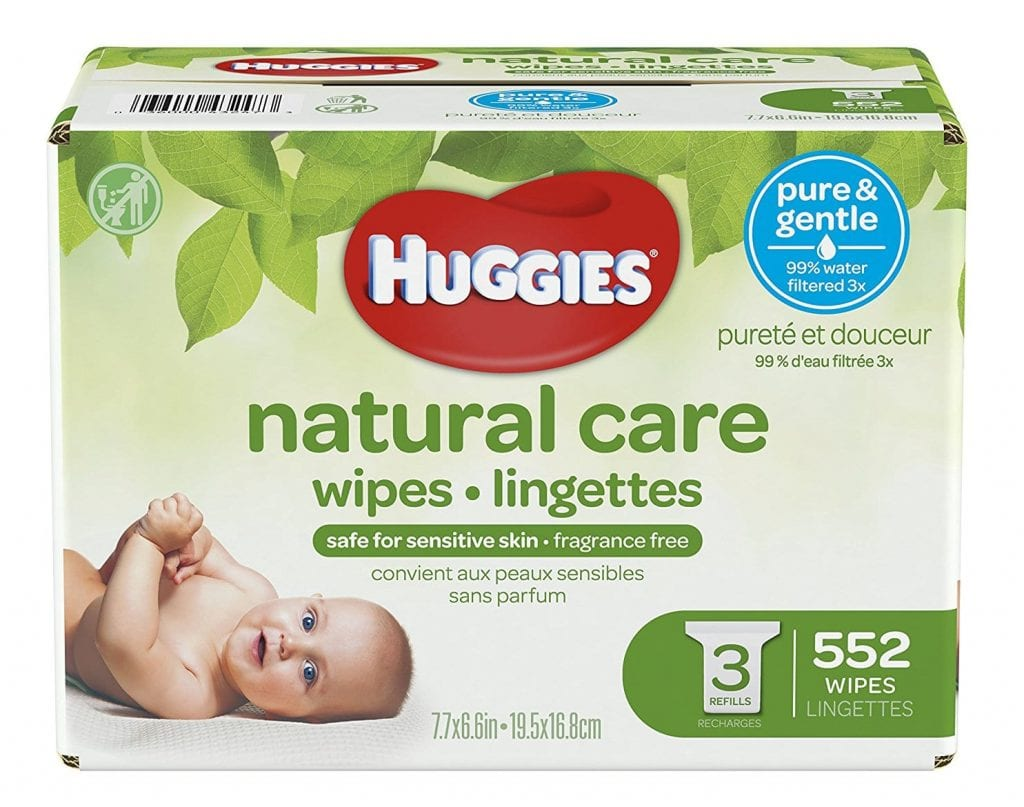 Huggies Unscented Natural Care Baby Wipes