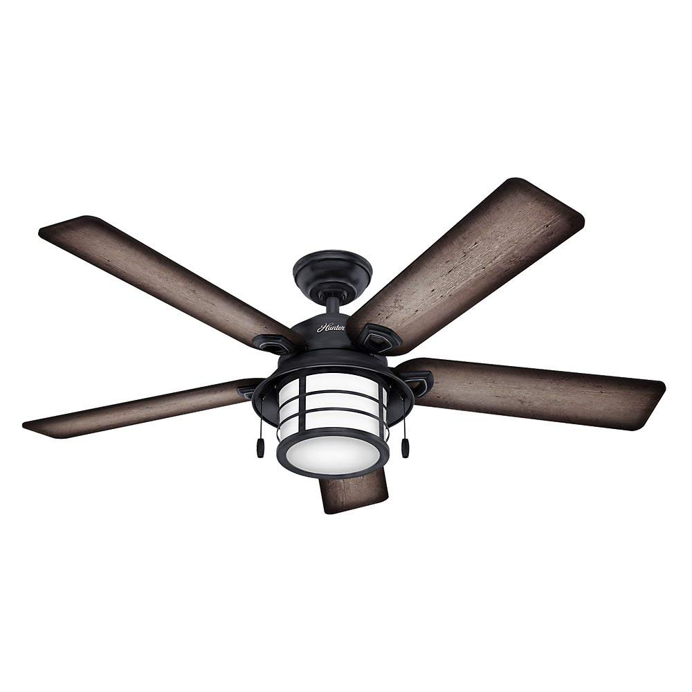 "Hunter 59135 54"" Key Biscayne Ceiling Fan's Weathered Zinc"