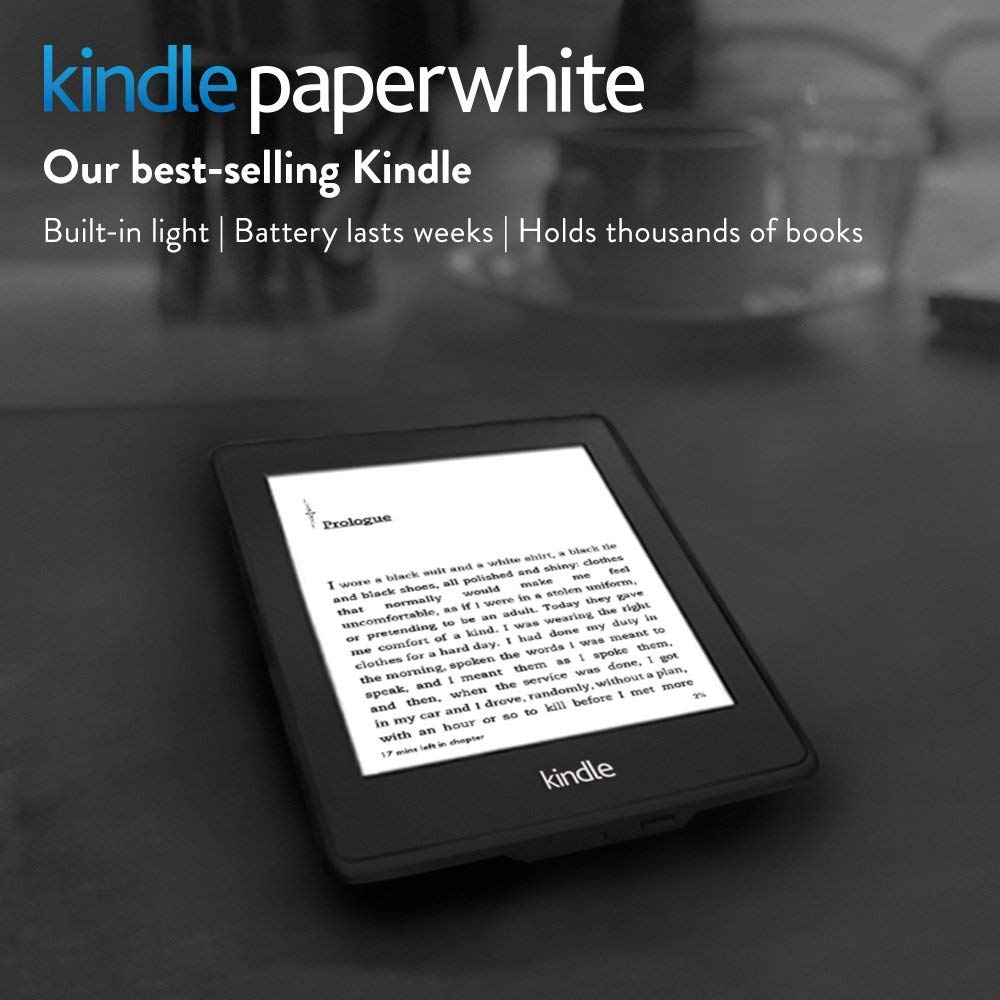 Kindle Paperwhite, 6-inch; High-Resolution 212 ppi Display with Built-in Light, Wi-Fi