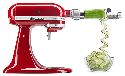 Kitchen supported KSM1APC Spiralizer attachment with peel, core and slide