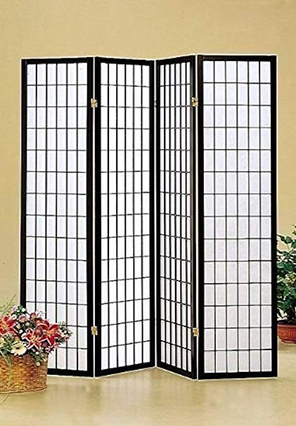 Legacy Décor Four-Panel Room Divider