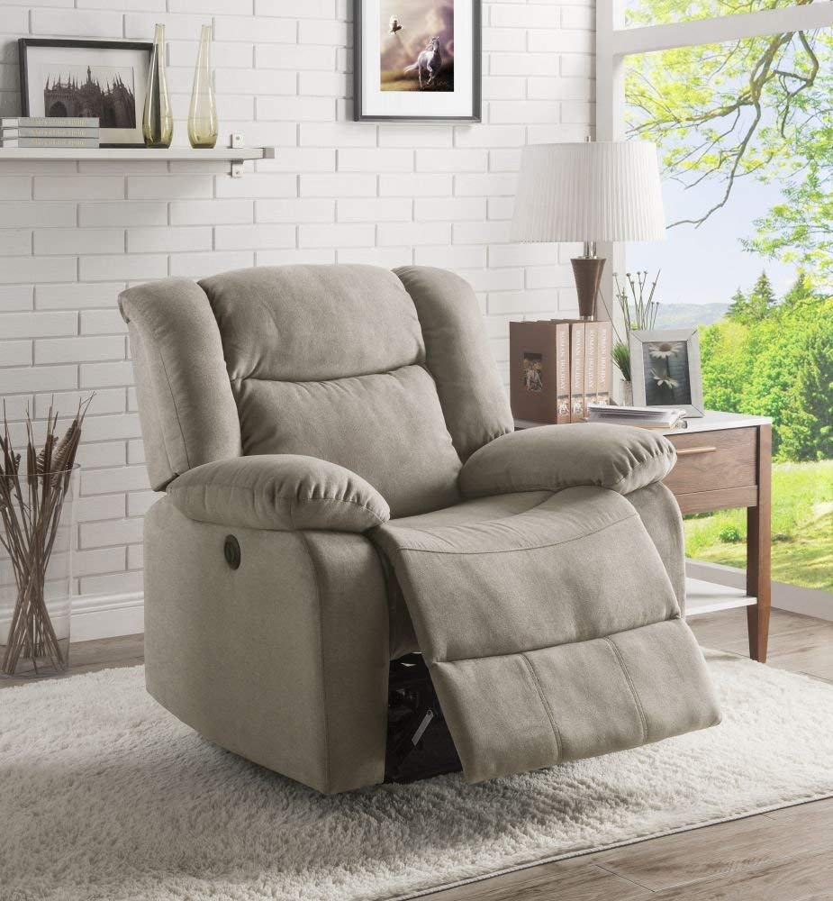 Lifestyle Power Recliner Taupe, Fabric