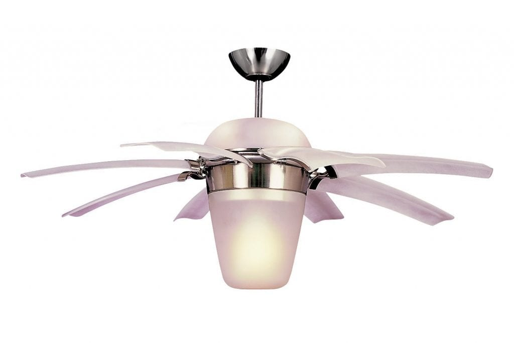 "Monte Carlo 8ATR44BSD-L, Brushed Steel, 44"" Airlift, Ceiling Fan"