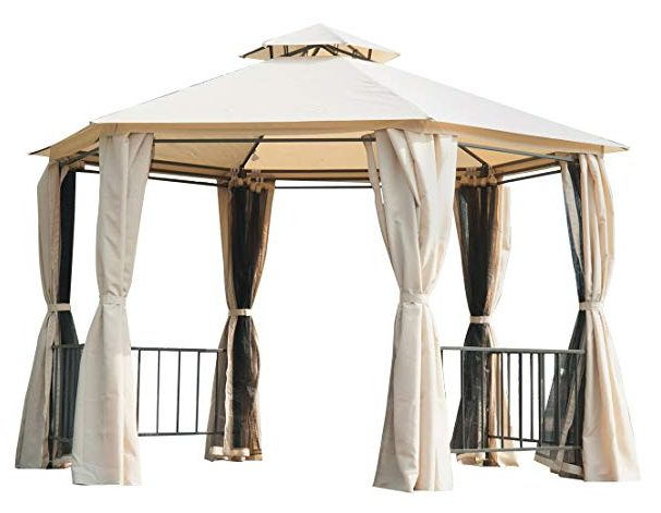 Outsunny Outdoor Two-Tiered Canopy Tent