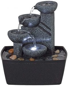 Rowell High Tabletop Fountain with Light